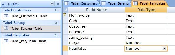 Contoh DataBase dengan Ms. Access 2007 (6/6)